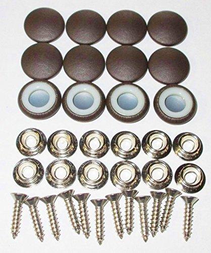 "Set Of 12 Dura Snap Upholstery Buttons Chocolate Brown Vinyl (#30-3/4"" Diameter)"
