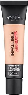 2 x L'Oreal Paris Infallible 24H Matte Foundation 35ml - 20 Sand