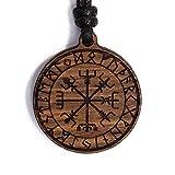 treeforce Schutzrune Collar, llavero o colgante de coche, 3 en 1, joyas de roble de cobre