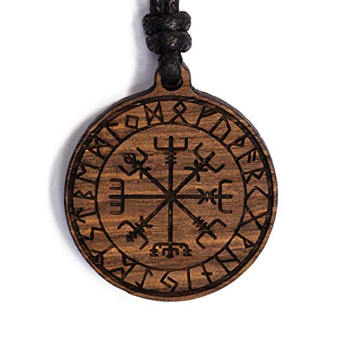 treeforce Schutzrune Halskette, Schlüsselanhänger oder Auto- Anhänger 3in1 DIY Schmuck aus Kupfereiche