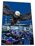 Mannheim Eishockey, Fan Artikel Leinwandbild, Größe: