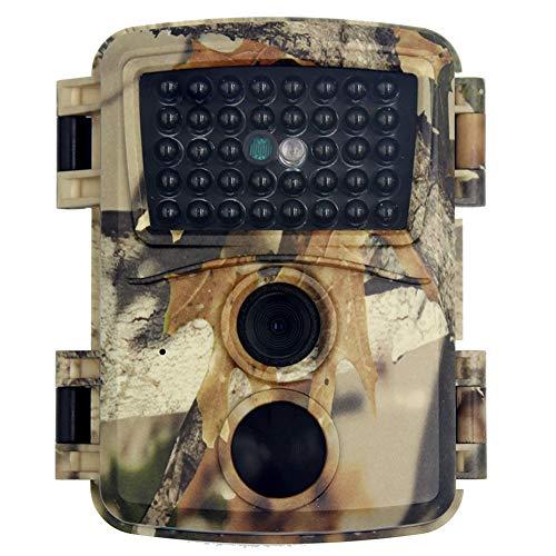 MZBZYU FHD 1080P Wildtierkamera Jagdkamera mit 32 GB SD-Karte und 34 Stück Infrarot-LED Wasserdicht IP54 120° Weitwinkel 12MP Auflösung 0.8s Triggerzeit Einfach Einzurichten und zu Installieren