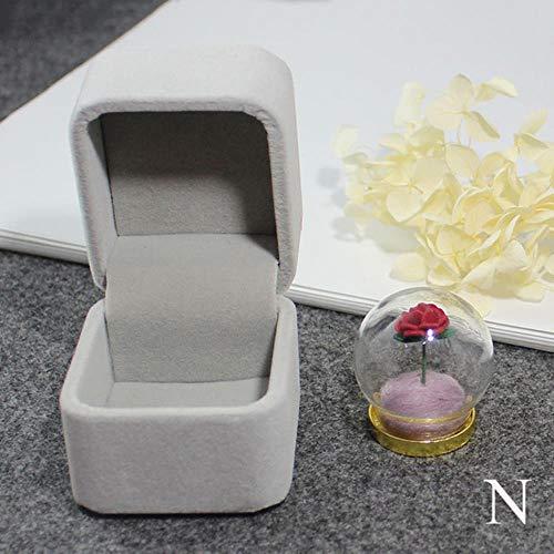 Künstliche Rose Geschenk 1Pc Little Prince Rose/Der Kleine Prinz/Die Rose Halskette Des Kleinen Prinzen/Rose Terrarium Halskette/Valentinstag Geschenk, N Gold Anhänger