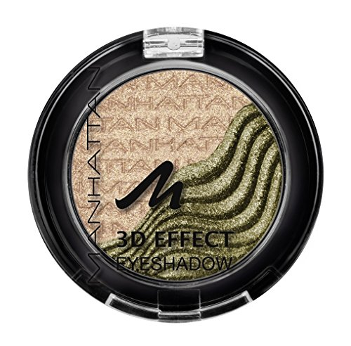 Manhattan 3D Effect Eyeshadow – Glitzernder metallic Duo-Lidschatten in Grün und Gold für ein atemberaubendes Augen-Make-up – Farbe Jungle Unchained 23H/82M – 1 x 10g