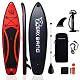 Tigerxbang Tabla de surf inflable de 3 m para tabla de paddle, 6 pulgadas de grosor, bomba, mochila, remo ajustable, correa, kit de reparación, 300 x 71 x 15 cm