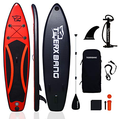 Tigerxbang SUP Board Stand Up Paddling Board | 300x71x15cm | Komplettes aufblasbares Paddle Zubehör