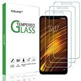 (3 Pack) Beukei Compatible Xiaomi Pocophone F1 Screen Protector Tempered Glass, Full Screen Coverage, Touch Sensitive,Case Friendly, 9H Hardness
