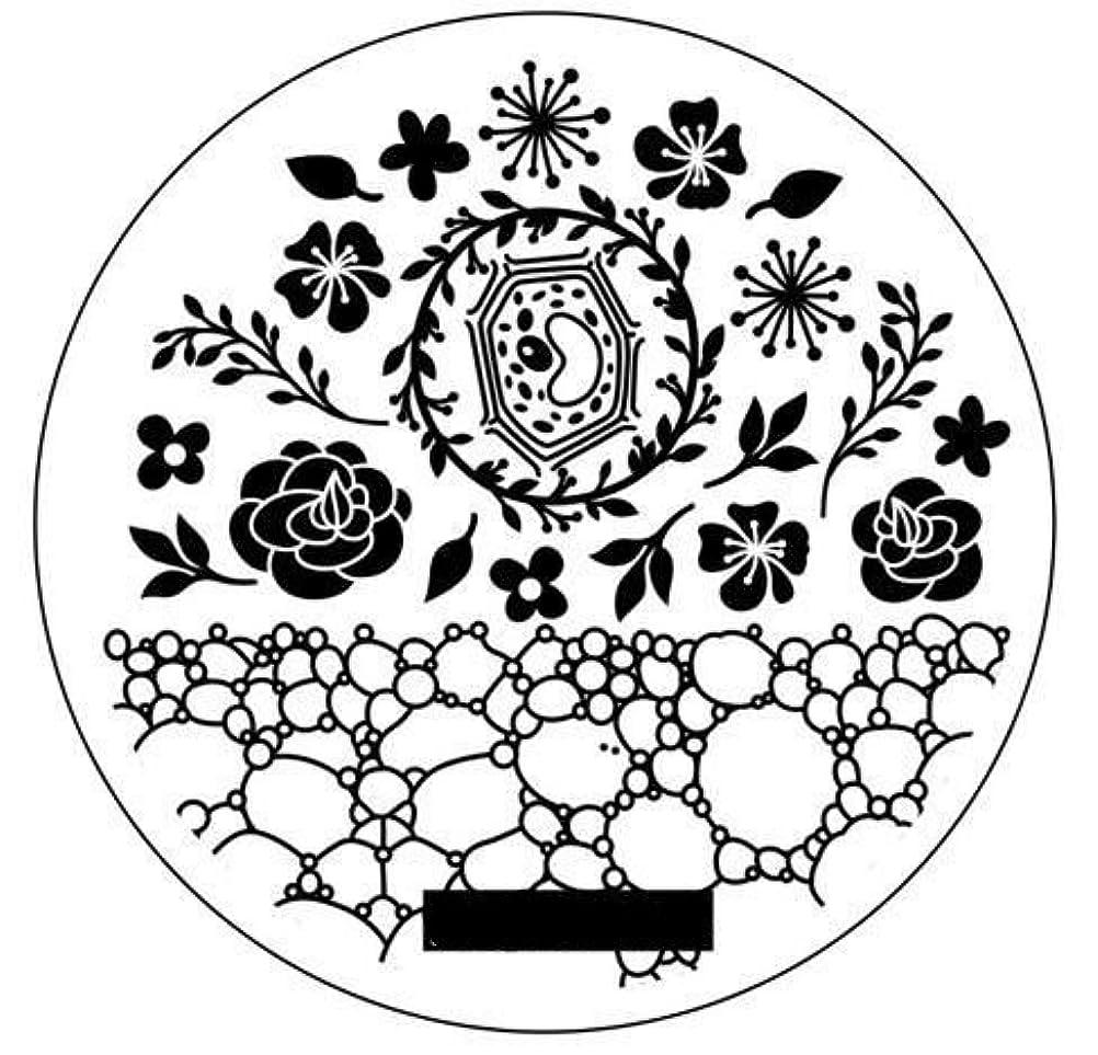 ツーリストリフレッシュ財団1枚 ローズ 泡 柄 スタンピングネイル プレート スタンピングネイル ネイルアート スタンプ ネイルグッズ