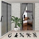 lanlelin 2 pcs zanzariera magnetica 90x210, zanzariera con calamita, mesh ad alta densità poliestere zanzariera porta , utilizzato in camere da finestra, letto, balconi, etc.
