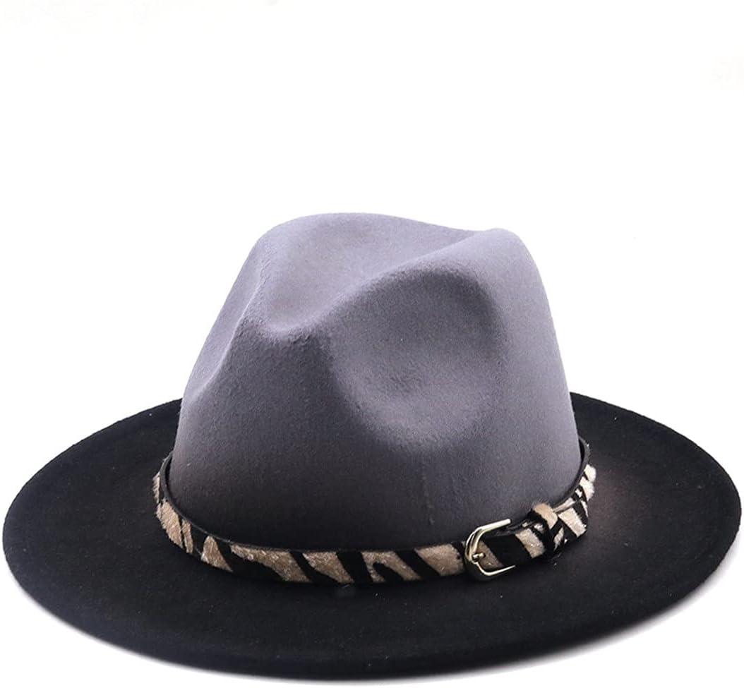 PokemHent Gradient Regular store Color Fedora Hat Jaz Brim Women Max 67% OFF Tie-Dye Wide