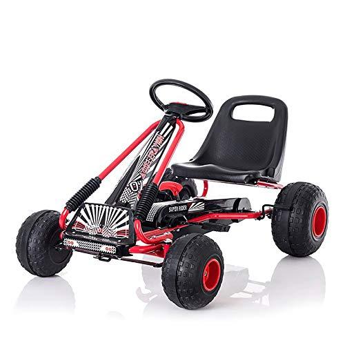 Pedale A 4 Ruote Alimentato Go Kart Con Sedile Regolabile,Corsa All'aperto Su Pedalata Per Ragazzi E Ragazze,Go Kart Per I Bambini-A