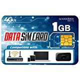 SpeedTalk Mobile 1GB Data Only SIM Card – 30 Days No Contract Service - 4G LTE USA Nationwide Domestic and...