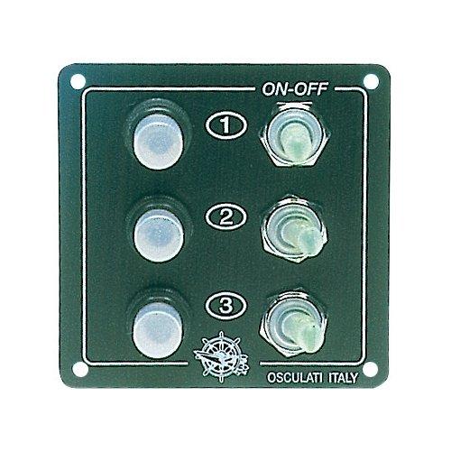 Osculati Elite bedieningspaneel 5 schakelaars + aansteker plug