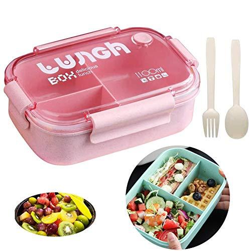 Queta Lunch Bento Box. Fiambrera bento niños, con 3 compart