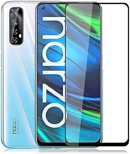 Casodon 5D Full Glue Tempered Glass For Narzo 20 Pro Black