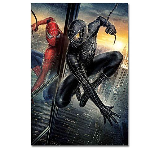 DPFRY Cuadros De Lienzo Imagen De Arte De Pared Spiderman