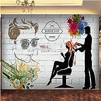 写真の壁紙3D立体空間カスタム大規模な壁紙の壁紙 理髪店の壁の装飾リビングルームの寝室の壁紙の壁の壁画の壁紙テレビのソファの背景家の装飾壁画-140X100cm