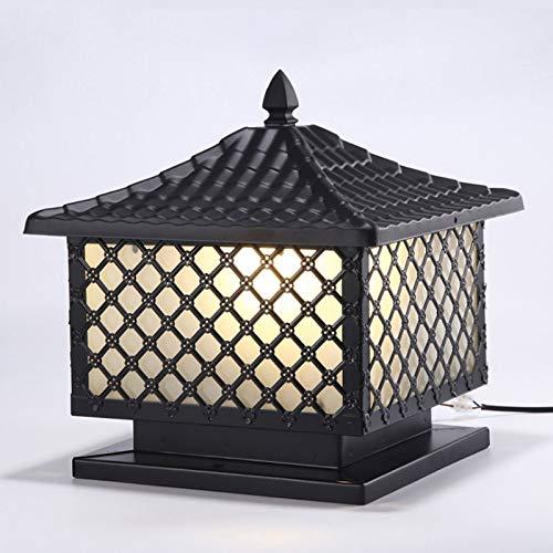 SJYDQ Lámpara de Cabeza de Columna de Rejilla Lámpara de Poste de Puerta Lámpara de Puerta de Villa Impermeable al Aire Libre Lámpara de Pared Lámpara de jardín Lámpara de Paisaje