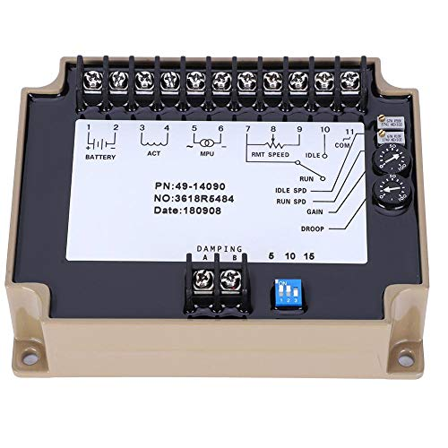 Sturdy 12V/24V Sealed Stable Electronic Governor Speed Controller Diesel Speed Control Board Generator Accessories Electrical for Self-starting Controller
