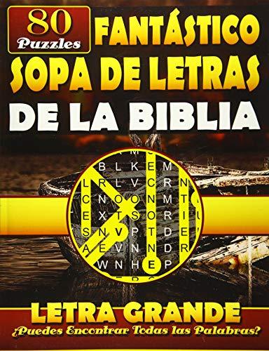 Fantástico Sopa de Letras de la Biblia (Letra Grande): Spanish Bible Word Search (Reina-Valera (RVR) Bible Version). Libros de la Biblia en Español. (Sopa de Letras en Espanol)