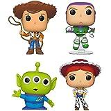 Funko Disney: POP! Toy Story 4 Collectors Set 1 - Woody, Buzz, Alien, Jessie