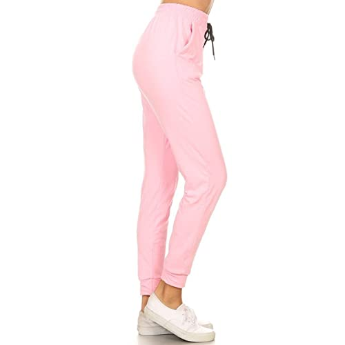 d456ca67 Leggings Depot Women's Printed Solid Activewear Jogger Track Cuff  Sweatpants Inner Pockets