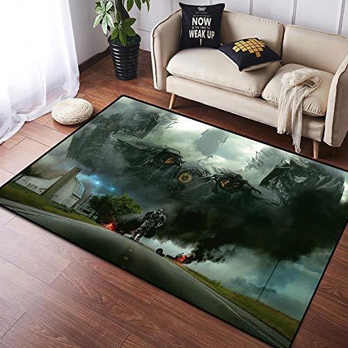 Coobal Transformers Age of Extintion, alfombra grande para suelo de yoga, dormitorio para niños, sala de juegos, dormitorio, 3 x 5 pies (90 x 150 cm)