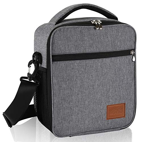Lunch Box for Men Insulated Small Lunch Bag Work Mens Soft Cooler Bag Reusable Lunchbox for Adults Heavy Duty Thermal Lunch Pail with Strap 7L Moyad - Grey