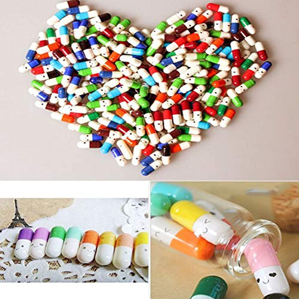 Gift Glass - 50pcs Message In A Bottle Capsule Letter Love Pill Letterhead Wish With Paper Scrip Storage Event - Toddlers Cars Party Hawaiian Movie Pack Stamps Drawstring Train Games Zero