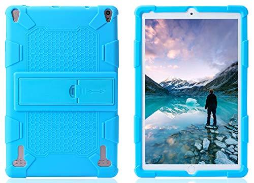 AKNICI YOTOPT Funda Protectora - 10 Pulgadas Tablet Funda de Silicona para DUODUOGO P8 P6/YOTOPT 10/GOODTEL G2/HMAI 10/YESTEL X2/Novel TTT 10/NAQU 10/Allmeida 10 con Soporte Incorporado - Cielo Azul
