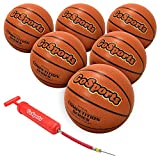 GoSports Indoor Synthetic Leather Competition Basketball with Pump