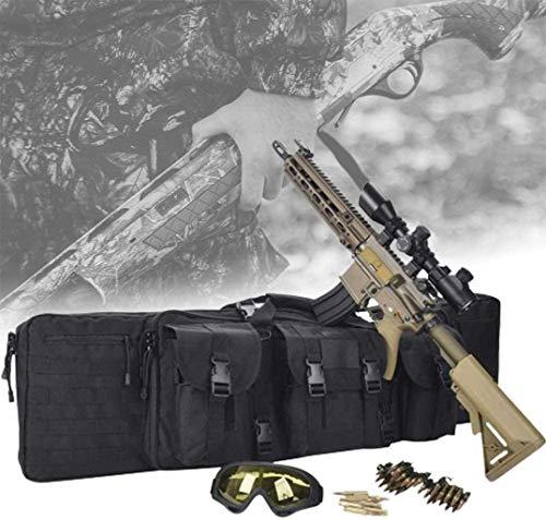 QMZDXH Estuche Doble para Rifle, Estuche Largo para Escopeta, Estuche para Rifle de Aire Suave, Material Oxford 600D, Funda Militar para Bolsa de Caza Rifle Asalto