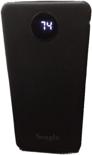 Seagle 15000 mAh Li Polymer Power Bank USB Type C and Micro USB Ports 18W Fast Charging Black