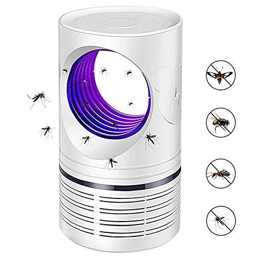 Bcamelys Lampara Antimosquitos 5W con Ultravioleta Insectos Trampa 5V Atrapa Mosquitos Que Atrae A Los Mosquitos,Silencioso Y Funcional,No TóXicos,Sin Radiación,Rango Efectivo 20M²~50M²,Blanco