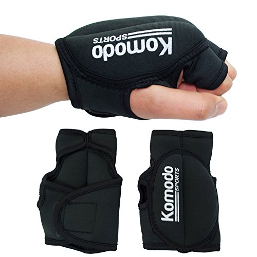 KOMODO Neoprene Weighted Hand Gloves For Fitness Training Rehabilitation Gym Boxing MMA (2 x 1KG)