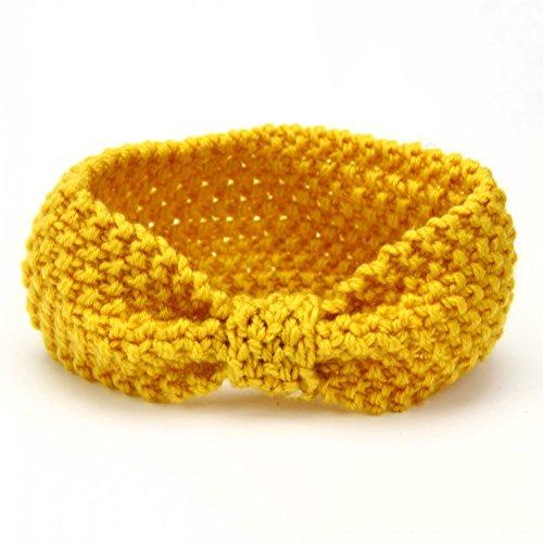 Sukisuki Gehaakte Gebreide Hoofdbanden Infant Headdress Elastische Strik Haarband voor Baby Meisjes