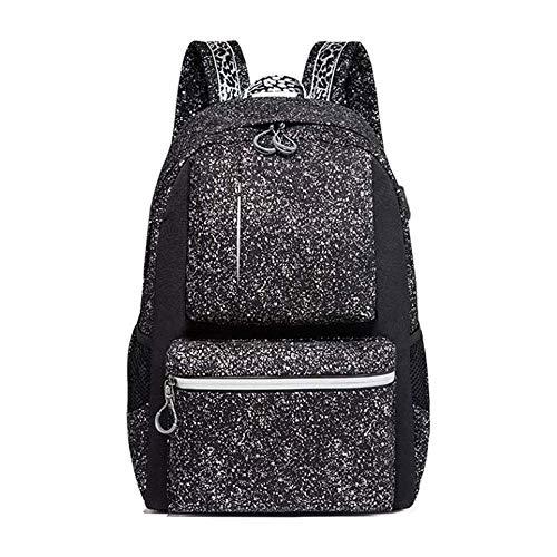 HEMFV 旅行男性女性、学校、Utdoor旅行用のバックパックを充電USB付きユニセックスクラシック防水盗難防止