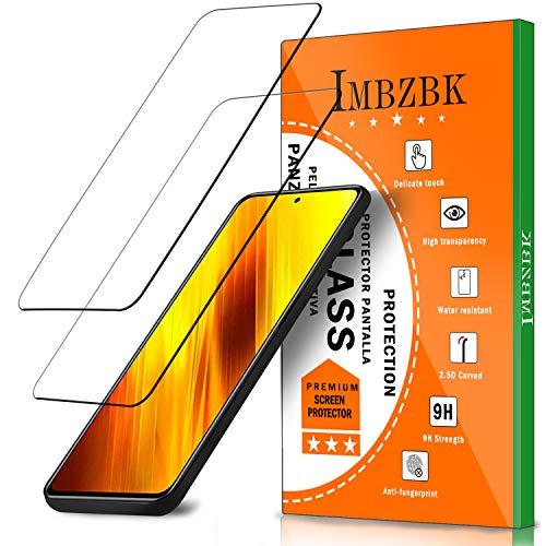 IMBZBK [2 Pezzi] Compatibile con Vetro Temperato Xiaomi Poco X3 NFC/Mi 10T/ Mi 10T Lite/Mi 10T PRO Pellicola Protettiva,[Bubble-Free][Copertura Completa][Alta Definizione] Vetro temperato AntiGraffio