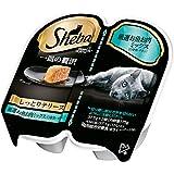 シーバ (Sheba) キャットフード 一皿の贅沢 しっとりテリーヌ 厳選お魚お肉ミックス(白身魚・チキン) 75g(37.5g×2個入)×6個 (まとめ買い)
