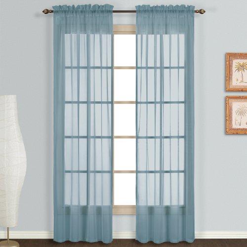 United Curtain Monte Carlo Fensterbehandlungsplatte, 140 x 274 cm, Schieferblau, 2 Stück