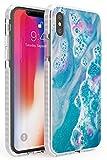 Bomba Blue Lagoon Bath Funda de Teléfono de Goma a Prueba de choques Bumper Cover para iPhone X, iPhone XS, iPhone 10 Lujoso Moda Fizzies Detox Natural