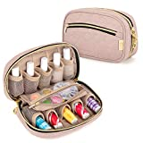 Luxja Nail Polish Case - Holds 10 Bottles (15ml - 0.5 fl.oz), Nail Polish Organizer with Zipper Pockets (Bag...