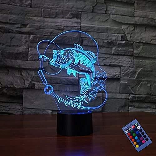 YTDZ - Lámpara de Noche con 7 Colores cambiantes y luz LED para Mesa de Escritorio