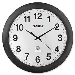 Lorell LLR60997 Black Radio Controlled Wall Clock