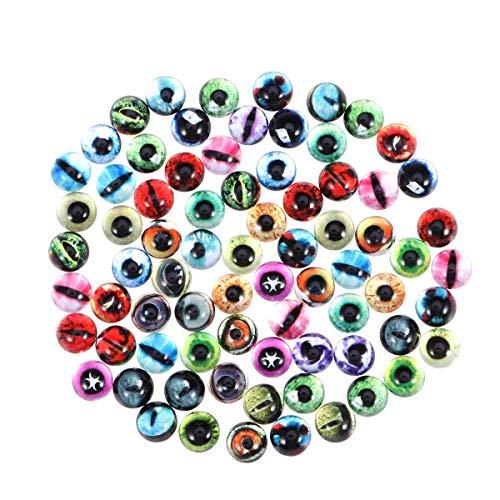 Healifty 50pcs Occhi di Sicurezza Occhi di Plastica con Rondelle per giocattoli bambole animali Pupazzo Peluche 12mm