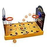GOODS+GADGETS Juego de baloncesto electrónico en miniatura – Baloncesto de mesa eléctrico Arcade Game baloncesto