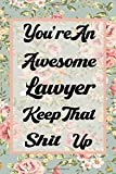 You re An Awesome Lawyer Keep That Shit Up: Funny Joke Notebook Journal Blank Lined Gift For Lawyer Diary Present & Sarcastic Humor Notebook | Thank You Appreciation (100 Pages 6x9 Sizes)