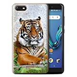 Stuff4 Phone Case for Wiko Tommy 3 Wildlife Animals Tiger