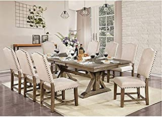 Amazon Com Kitchen Dining Room Sets 10 Pieces Table Chair Sets Kitchen Dining R Home Kitchen
