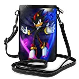 Sonic Shadow The Hedgehog Cellphone Purse Leather Wallet Women Crossbody Bag